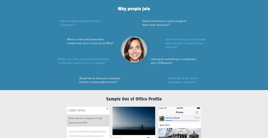 Out of Office - Professional Social Network