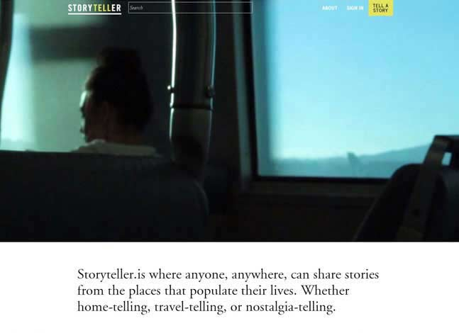 A storytelling social network, Storyteller is a space for storytellers to convene and share their stories.